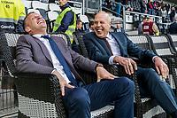 ALMELO - 14-04-2017, Heracles  Almelo - AZ, AFAS Stadion, AZ trainer John van den Brom, Jan Smit voorzitter van Heracles Almelo.
