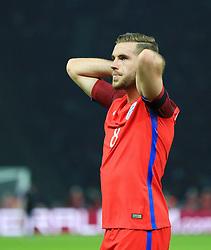 Englands Jordan Henderson reacts after missing a chance - Mandatory by-line: Matt McNulty/JMP - 26/03/2016 - FOOTBALL - Olympiastadion - Berlin, Germany - Germany v England - International Friendly