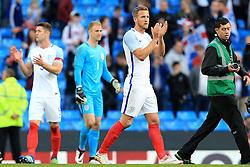 England's Harry Kane applauds the fans - Mandatory byline: Matt McNulty/JMP - 07966386802 - 22/05/2016 - FOOTBALL - Etihad Stadium -Manchester,England - England v Turkey - International Friendly