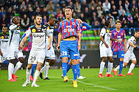 Deception Damien DA SILVA - 25.04.2015 - Caen / Guingamp - 34eme journee de Ligue 1<br /> Photo : David Winter / Icon Sport