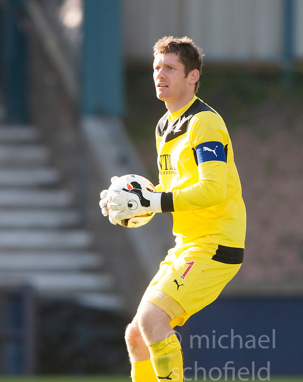 Falkirk's keeper Michael McGovern.<br /> Raith Rovers 1 v 1 Falkirk, Scottish Championship 28/9/2013.<br /> &copy;Michael Schofield.