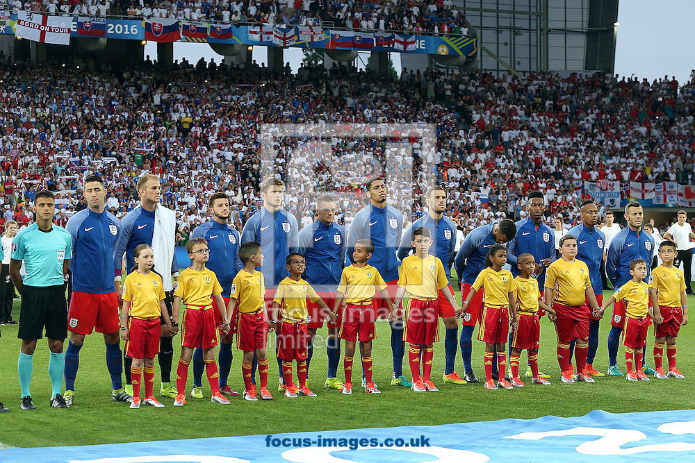 The England players before the UEFA Euro 2016 match at Stade Geoffroy-Guichard, Saint-Etienne<br /> Picture by Paul Chesterton/Focus Images Ltd +44 7904 640267<br /> 13/06/2016