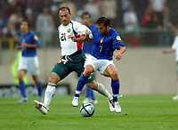 Alessandro Del Piero Italy / Zoran Yankovich Bulgaria<br /> Italy EURO 2004<br /> Italy V Bulgaria 22/06/04 EURO 2004 PORTUGAL<br /> Photo Robin Parker Digitaslport