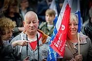 ROTTERDAM - During the commemoration of the murder of Pim Fortuyn. The politician was shot 15 years ago at the Mediapark in Hilversum.<br /> tijdens de herdenking van de moord op Pim Fortuyn. De politicus werd 15 jaar geleden op het Mediapark in Hilversum doodgeschoten. ANP ROBIN UTRECHT