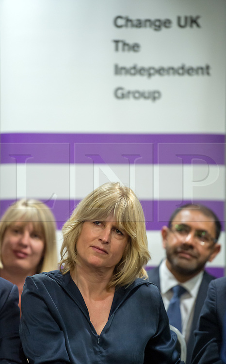 © Licensed to London News Pictures. 23/04/2019. Bristol, UK. RACHEL JOHNSON who is one of the Change UK's candidates for the EU elections, at the Change UK – The Independent Group holding their European election campaign launch at We The Curious in Bristol's Millennium Square. Photo credit: Simon Chapman/LNP
