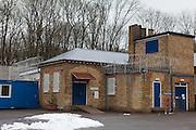 The main store and boiler room. HMP Send, closed female prison. Ripley, Surrey.