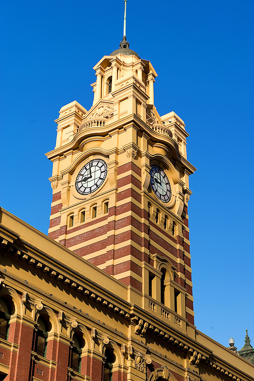 Flinders Street Train Station in Melbourne City of Australia