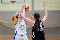 Lara Kozina Bubnic of ZKK Triglav Kranj during basketball match between ZKK Triglav Kranj and ZKD Maribor in Round #1 of 1. Slovenian Woman basketball league, on February 20, 2018 in ŠD Planina, Kranj, Slovenia. Photo by Ziga Zupan / Sportida