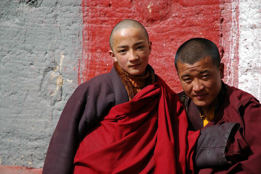 Two monks in Dege - Mach 20, 2008 - Michael Benanav