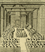 Room in the Archer Goals in Dordrecht, where the National Synod of November 1618 to May 1619 met.  This meeting was attended by 37  ministers and 19 elders, delegated by the Dutch churches.