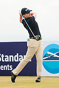 Karrie Webb tees off during the Aberdeen Standard Investments Ladies Scottish Open 2018 at Gullane Golf Club, Gullane, Scotland on 28 July 2018. Picture by Kevin Murray.