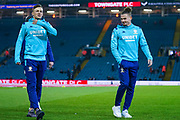 Leeds United defender Ben White (5) and Leeds United midfielder Kalvin Phillips (23) arrives at the ground during the EFL Sky Bet Championship match between Leeds United and Preston North End at Elland Road, Leeds, England on 26 December 2019.