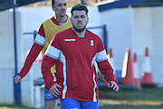 Glossop North End  Sam Barnes (captain) (5) warms up during the Evo-Stik Premier League match between Glossop North End and Scarborough Athletic at the Arthur Goldthorpe Stadium, Glossop, United Kingdom on 26 November 2016. Photo by Mark Pollitt.