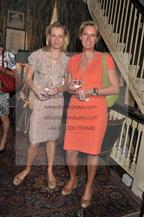 Left to right, HELEN GREEN and ANNOUSHKA AYTON at a lunch in aid of the charity Kids Company held at Mark's Club, 46 Charles Street, London on 3rd October 2011.