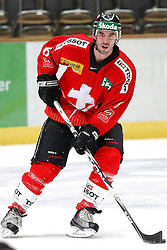 12.11.2010, Olympiahalle, Muenchen, GER, Deutschland Cup , Schweiz vs Slovakei, im Bild Ramholt Tim (Schweiz #6)   , EXPA Pictures © 2010, PhotoCredit: EXPA/ nph/  Straubmeier+++++ ATTENTION - OUT OF GER +++++