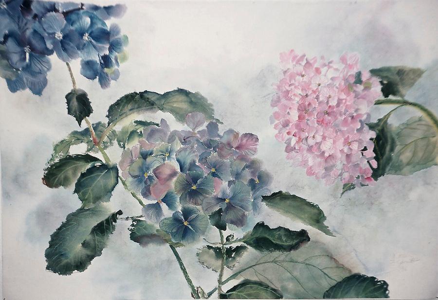 "Fine art print on watercolor paper<br>12 x 16"" - $69  .  18.5 x 27"" - $300"