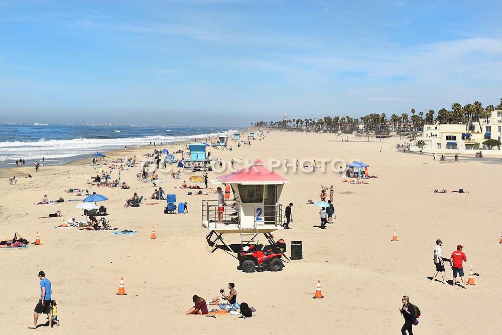 Huntington Beach Shoreline Looking North