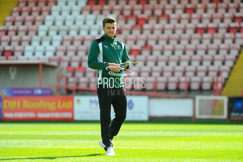 Graham Carey (10) of Plymouth Argyle on the pitch at St James Park before the EFL Sky Bet League 2 match between Exeter City and Plymouth Argyle at St James' Park, Exeter, England on 17 September 2016. Photo by Graham Hunt.