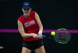 November 8, 2018 - Prague, Czech Republic - Alison Riske of the United States during practice ahead of the 2018 Fed Cup Final between the Czech Republic and the United States of America (Credit Image: © AFP7 via ZUMA Wire)