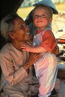 little boy with an elderly Vietnamese woman