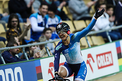 March 1, 2019 - Pruszkow, Poland - Hong Kong's Wai Sze Lee celebrates after winning the Women's Sprint final at the UCI Track Cycling World Championships in Pruszkow on March 1, 2019. (Credit Image: © Foto Olimpik/NurPhoto via ZUMA Press)