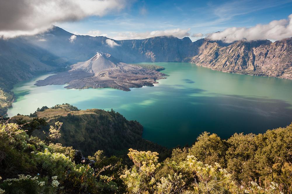 Mt Rinjani volcano in Lombok