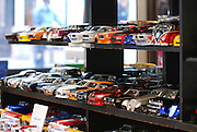 USA, Massachusetts, Boston a display of toy replica cars