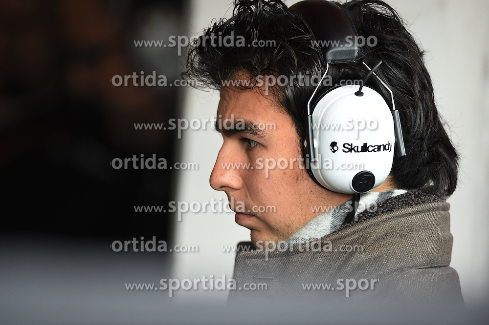 27.02.2015, Circuit de Catalunya, Barcelona, ESP, FIA, Formel 1, Testfahrten, Barcelona, Tag 2, im Bild Sergio Perez (MEX) Force India // during the Formula One Testdrives, day two at the Circuit de Catalunya in Barcelona, Spain on 2015/02/27. EXPA Pictures &copy; 2015, PhotoCredit: EXPA/ Sutton Images/ Mark Images<br /> <br /> *****ATTENTION - for AUT, SLO, CRO, SRB, BIH, MAZ only*****