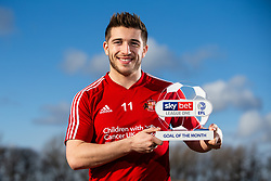 Lynden Gooch of Sunderland wins the Sky Bet League One Goal of the Month award - Mandatory by-line: Robbie Stephenson/JMP - 12/02/2020 - FOOTBALL - Academy of Light - Sunderland, England - Sky Bet Goal of the Month Award