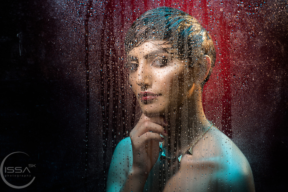 Looking through a wet window