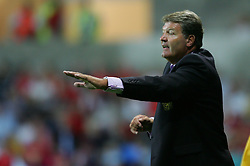 SWANSEA, WALES - WEDNESDAY, AUGUST 17th, 2005: Wales' manager John Toshack during the International Friendly match against Slovenia at the New Stadium. (Pic by David Rawcliffe/Propaganda)