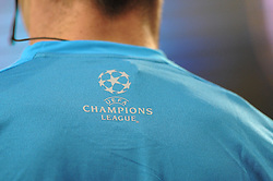 Champions League logo on the fifth official shirt - Photo mandatory by-line: Dougie Allward/JMP - Mobile: 07966 386802 - 22/10/2014 - SPORT - Football - Anderlecht - Constant Vanden Stockstadion - R.S.C. Anderlecht v Arsenal - UEFA Champions League - Group D