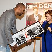 NLD/Amsterdam/20160202 - Lancering Helden magazine, Orlando Engelaar en Victoria Koblenko