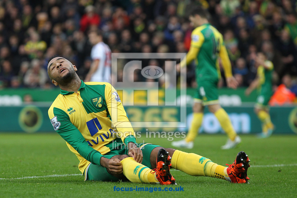 Nathan Redmond of Norwich rues a missed chance during the Barclays Premier League match at Carrow Road, Norwich<br /> Picture by Paul Chesterton/Focus Images Ltd +44 7904 640267<br /> 24/10/2015