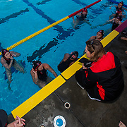 11 February 2018: The San Diego State  women's water polo team competes in day two of the Triton Invitation on the campus of UCSD. The Aztecs took on the #23 CSUN Matadors Sunday morning and came away with a 8-5 win.<br /> More game action at www.sdsuaztecphotos.com
