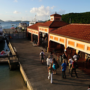 Main ferry terminal on Cruz Bay on St. John in the US Virgin Islands
