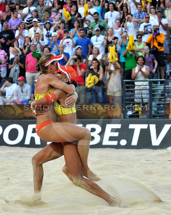 Roma, 19/06/2011..Swatch World Championships Rome2011. Foro Italico..May-Treanor-Walsh USA vs Larissa-Juliana BRA .Le brasiliane sono Campioni del Mondo..Foto Simone Ferraro - GMT..