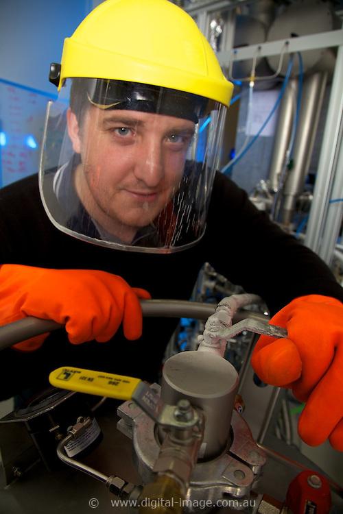 Infrared Beamline, Australian Synchrotron.   Infrared Beamline, Nitrogen fill staff