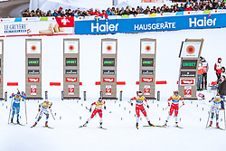 21.02.2019, Langlauf Arena, Seefeld, AUT, FIS Weltmeisterschaften Ski Nordisch, Seefeld 2019, Langlauf, Damen, Sprint, im Bild v.l.: Elisa Brocard (ITA), Jonna Sundling (SWE), Maiken Caspersen Falla (NOR), Kristine Stavaas Skistad (NOR), Mari Eide (NOR), Stina Nilsson (SWE) // f.l.: Elisa Brocard of Italy Jonna Sundling of Sweden Maiken Caspersen Falla of Norway Kristine Stavaas Skistad of Norway Mari Eide of Norway Stina Nilsson of Sweden during the ladie's Sprint competition of the FIS Nordic Ski World Championships 2019. Langlauf Arena in Seefeld, Austria on 2019/02/21. EXPA Pictures © 2019, PhotoCredit: EXPA/ Dominik Angerer