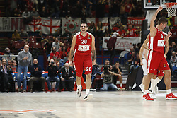 November 17, 2017 - Milan, Milan, Italy - Andrea Cinciarini (#20 AX Armani Exchange Milan) celebrates during a game of Turkish Airlines EuroLeague basketball between  AX Armani Exchange Milan vs Brose Bamberg at Mediolanum Forum, on November 17, 2017 in Milan, Italy. (Credit Image: © Roberto Finizio/NurPhoto via ZUMA Press)