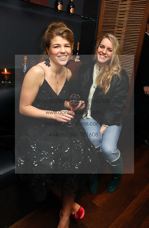 Left to right, AMBER NUTTALL and LAURA LOPES at a St.Valentine's dinner hosted by Ruinart champagne at Tom Aikens Restaurant, Elystan Street, London on 6th February 2007.<br /><br />NON EXCLUSIVE - WORLD RIGHTS
