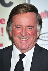 ** File picture of Sir Terry Wogan, who has died of cancer at the age of 77 **© Licensed to London News Pictures. 07/02/2012.  England. Terry wogan attends the Oldies of the year Awards at Simpsons hotel in the Strand London Photo credit : ALAN ROXBOROUGH/LNP