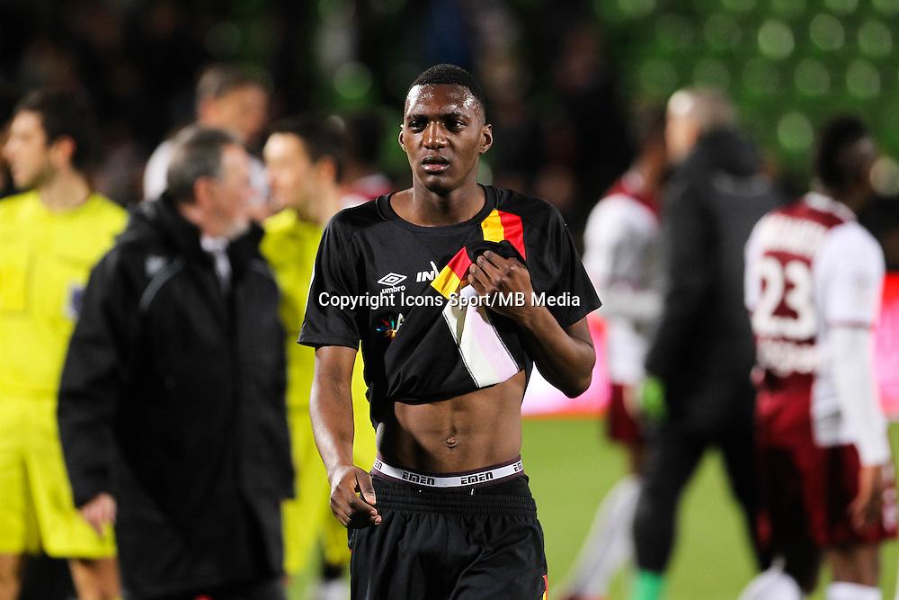 Deception Lens - Aristote MADIANI - 18.04.2015 - Metz / Lens - 33eme journee de Ligue 1<br />Photo : Fred Marvaux / Icon Sport