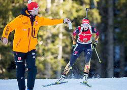 PREUSS Franziska (GER) competes during Women 12,5 km Mass Start at day 4 of IBU Biathlon World Cup 2014/2015 Pokljuka, on December 21, 2014 in Rudno polje, Pokljuka, Slovenia. Photo by Vid Ponikvar / Sportida