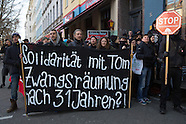 Protest stop a flat eviction in Berlin