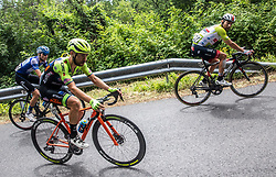 Aleksandr Vlasov (RUS) of Gazprom - Rusvelo, Giovanni Visconti (ITA) of Neri Sottoli Selle Italia KTM and Diego Ulissi (ITA) of UAE Team Emirates during 4th Stage of 26th Tour of Slovenia 2019 cycling race between Nova Gorica and Ajdovscina (153,9 km), on June 22, 2019 in Slovenia. Photo by Vid Ponikvar / Sportida