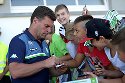 21.07.2015, Singen, SUI, Testspiel, VfL Wolfsburg vs FC Zuerich, im Bild Trainer Dieter Hecking (Wolfsburg) // during the International Friendly Football Match between VfL Wolfsburg and FC Zuerich at Singen, Switzerland on 2015/07/21. EXPA Pictures © 2015, PhotoCredit: EXPA/ Freshfocus/ Claudia Minder<br /> <br /> *****ATTENTION - for AUT, SLO, CRO, SRB, BIH, MAZ only*****