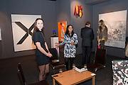 KRISTINA BARSCHMANN; RIDDHI BHANSALI, Pavilion of art and design.- PAD London  Berkeley Square. London. 10 October 2011. <br /> <br />  , -DO NOT ARCHIVE-© Copyright Photograph by Dafydd Jones. 248 Clapham Rd. London SW9 0PZ. Tel 0207 820 0771. www.dafjones.com.