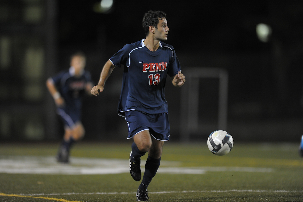 PHILADELPHIA - SEPTEMBER 3:  Penn men's soccer defeated St Joe's 2-0 on September 3, 2010 at St. Joseph's University in Philadelphia, Pennsylvania. (Photo by Drew Hallowell)