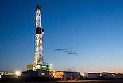 A drilling rig near Highway 33 and 74 south of Crescent